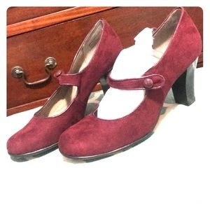 Never worn Wine color Mary Janes